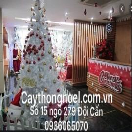 Mẫu trang trí cây thông trắng Noel 3m (mẫu 17)