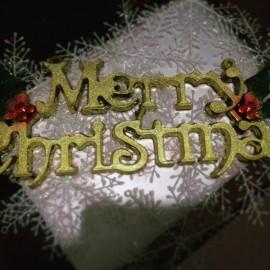 Chữ Merry Christmas 15cm