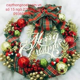 Vòng nguyệt quế Noel cỡ 65 Cm cao cấp