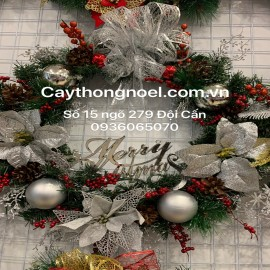 Vòng nguyệt quế Noel cỡ 65 Cm cao cấp ( Mẫu 99)