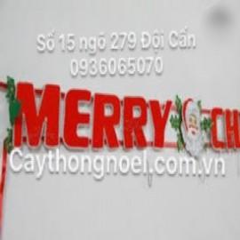CHỮ MERRY CHRISTMAS BẰNG NHUNG (2M70)