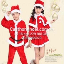Bộ quần áo  Noel trẻ em từ 1 tuổi trở lên bằng nỉ